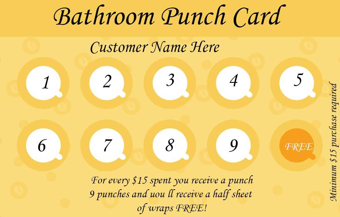 Free Customer Loyalty Punch Cards Templates – Zohre In Business Punch Card Template Free