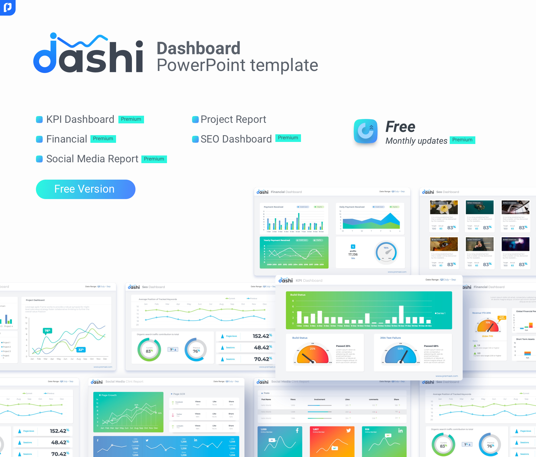 Free Dashboard Powerpoint Template – Ppt Presentation In Powerpoint Dashboard Template Free