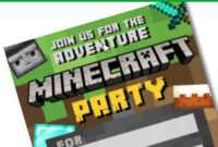Free Diy Printable Minecraft Birthday Invitation – Clean inside Minecraft Birthday Card Template