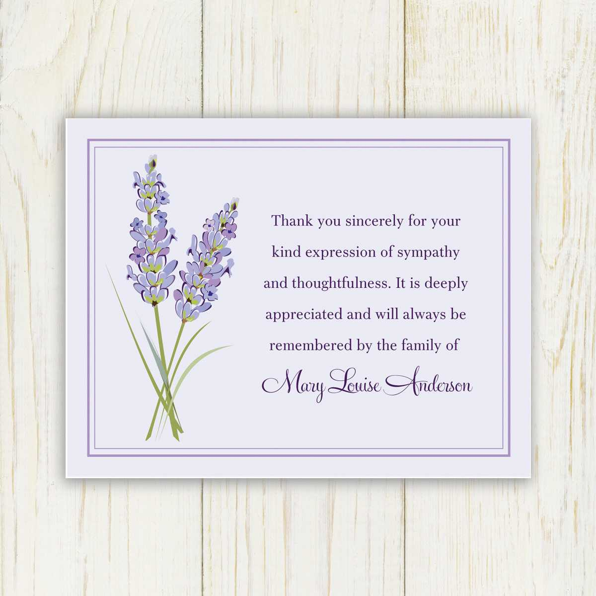 Free Funeral Thank You Cards Templates – Air Media Design With Regard To Sympathy Thank You Card Template