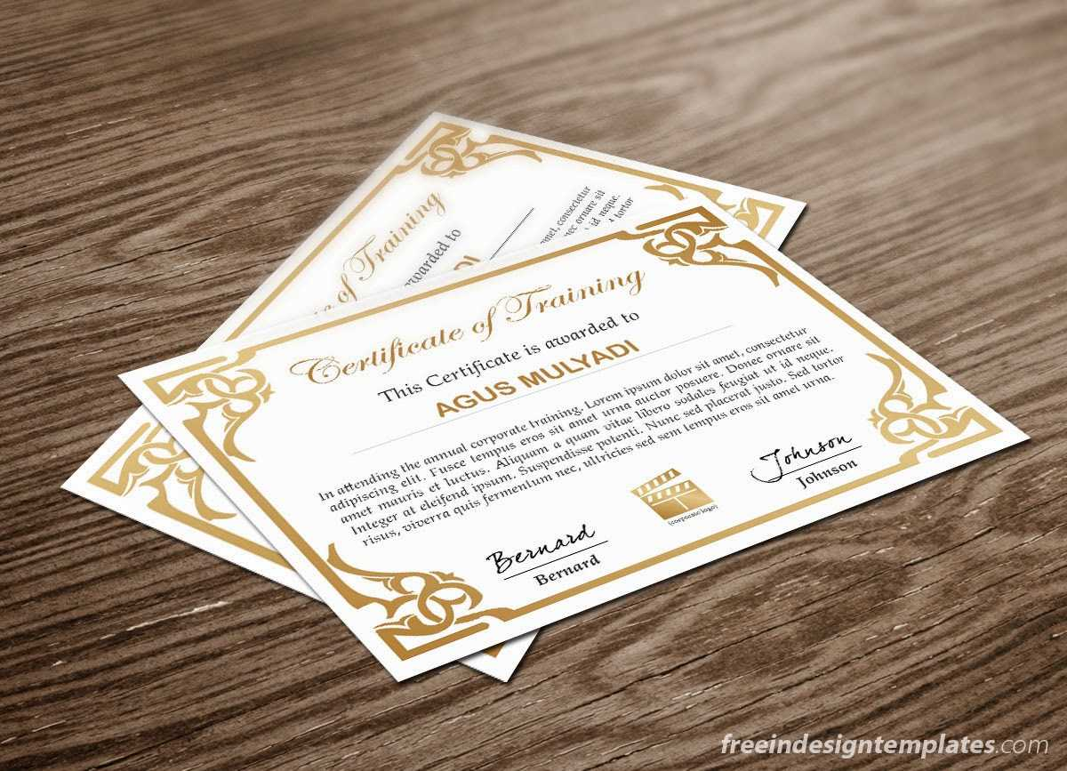 Free Indesign Certificate Template #1 | Free Indesign With Indesign Certificate Template