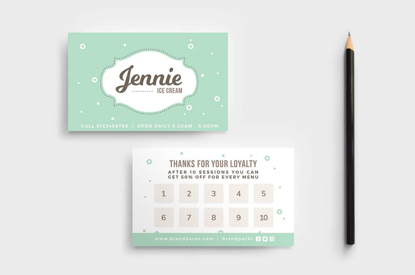 Free Loyalty Card Templates - Psd, Ai & Vector - Brandpacks Regarding Loyalty Card Design Template