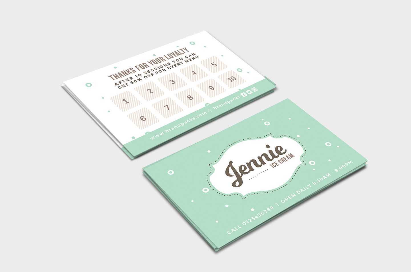 Free Loyalty Card Templates – Psd, Ai & Vector – Brandpacks With Regard To Customer Loyalty Card Template Free