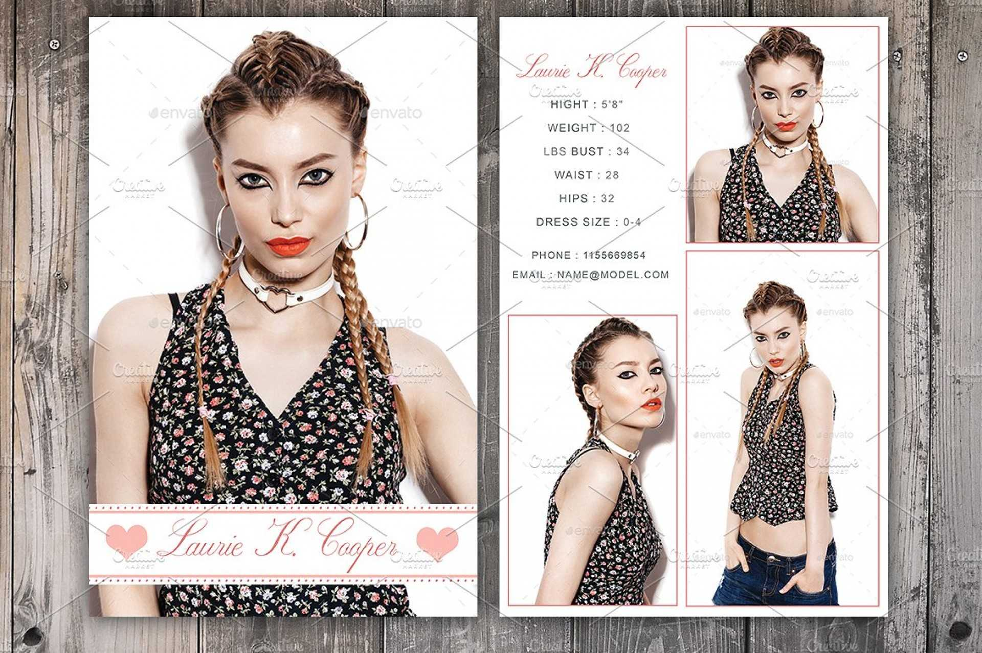 Free Model Comp Card Templates - C Punkt In Free Comp Card Template