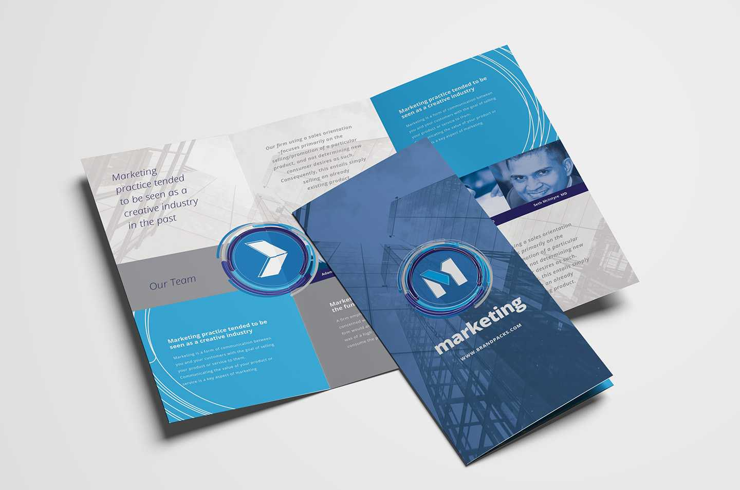 Free Multipurpose Trifold Brochure Template For Photoshop Intended For Tri Fold Brochure Template Illustrator Free