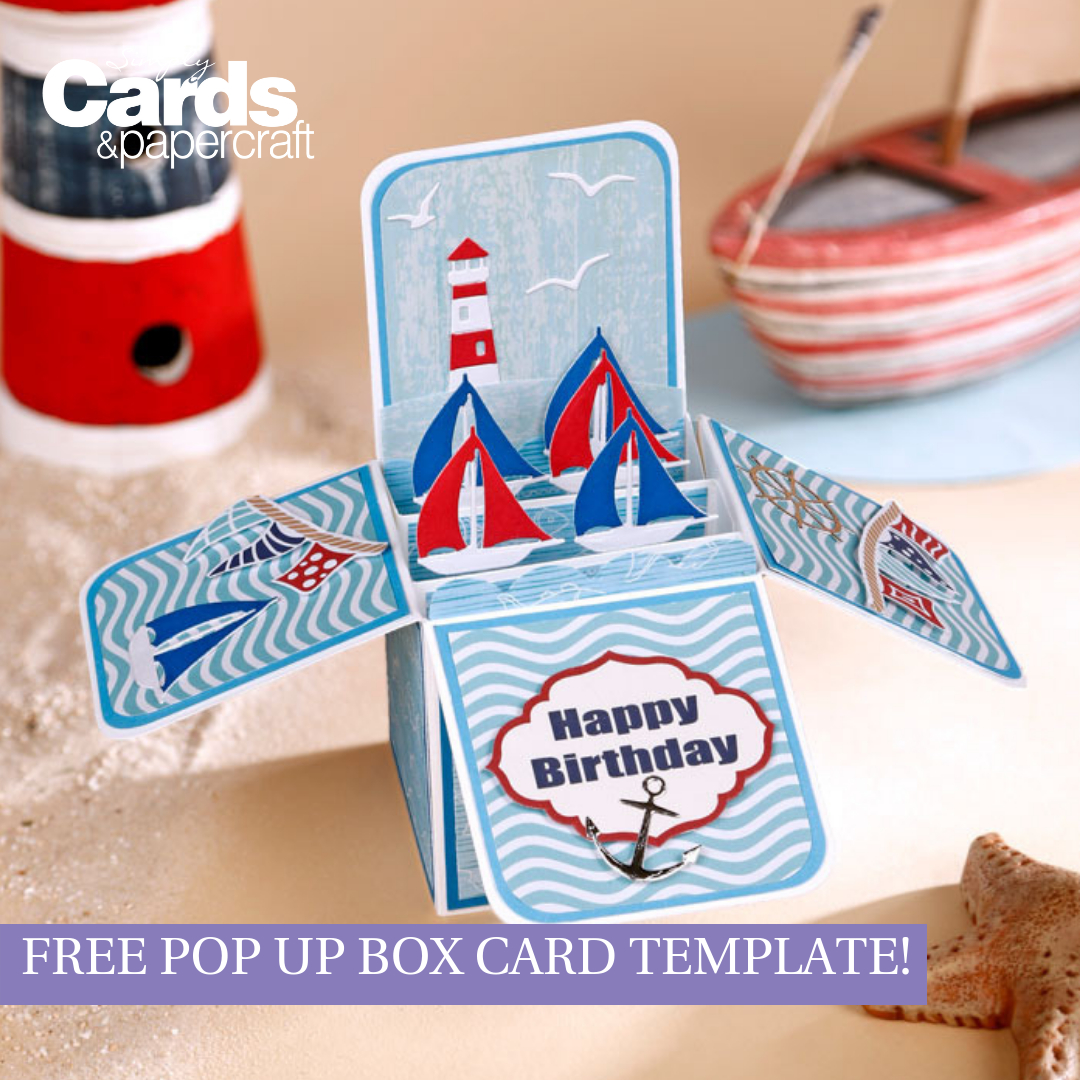 Free Pop Up Box Card Template – Simply Cards & Papercraft In Templates For Pop Up Cards Free