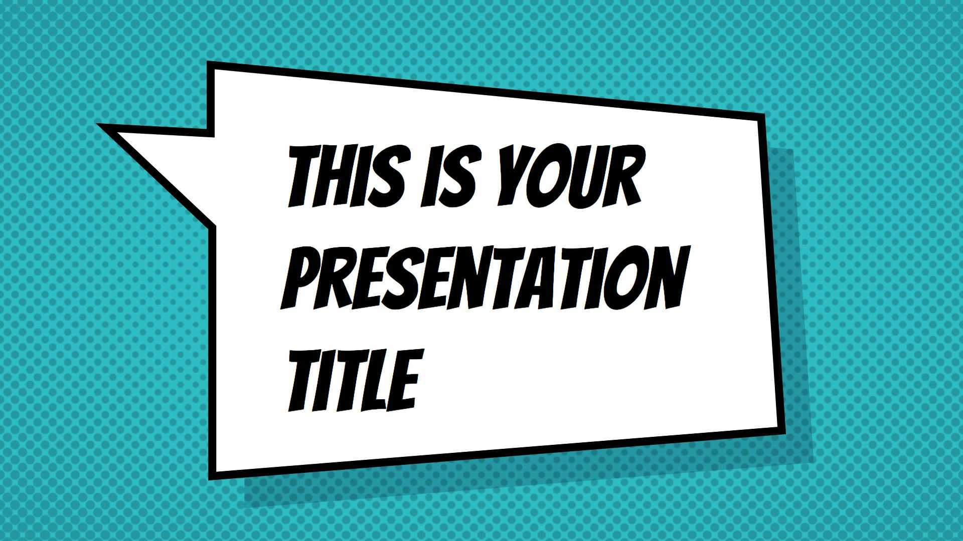 Free Powerpoint Template Or Google Slides Theme With In Comic Powerpoint Template