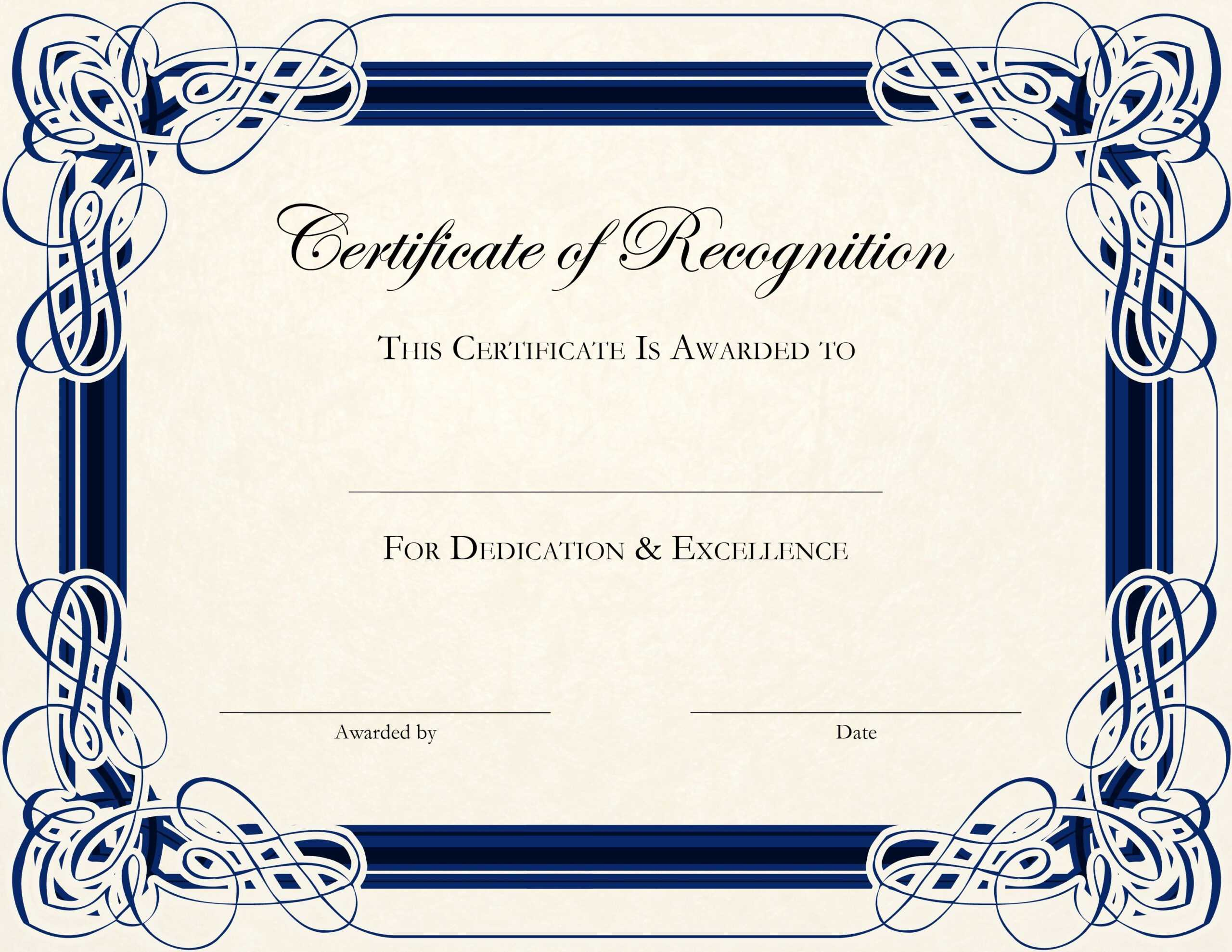 Free Printable Certificate Templates For Teachers With Regard To In Appreciation Certificate Templates