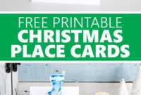 Free Printable Christmas Place Cards – Sustain My Craft Habit for Christmas Table Place Cards Template