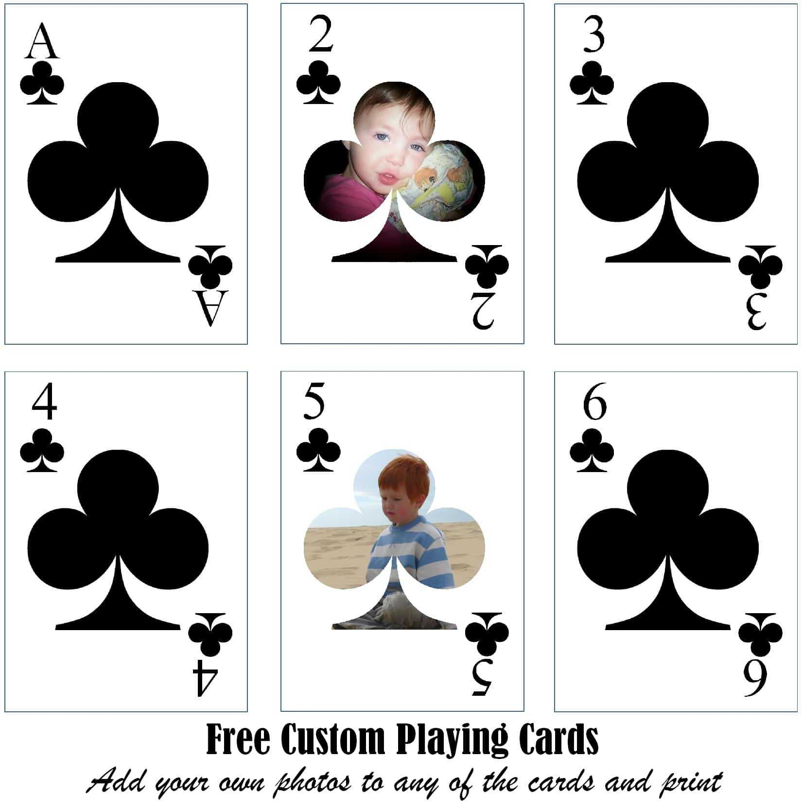Free Printable Custom Playing Cards | Add Your Photo And/or Text Intended For Free Printable Playing Cards Template