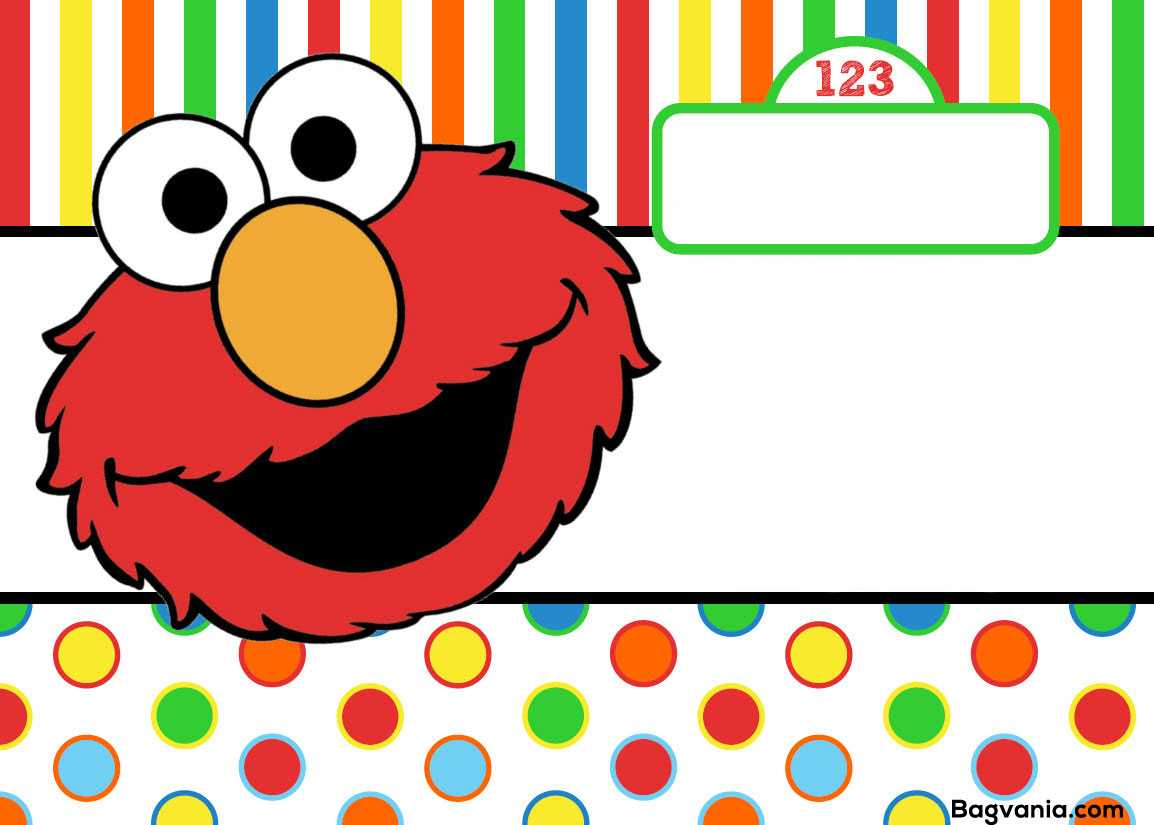 Free Printable Elmo Birthday Invitations – Bagvania Inside Elmo Birthday Card Template