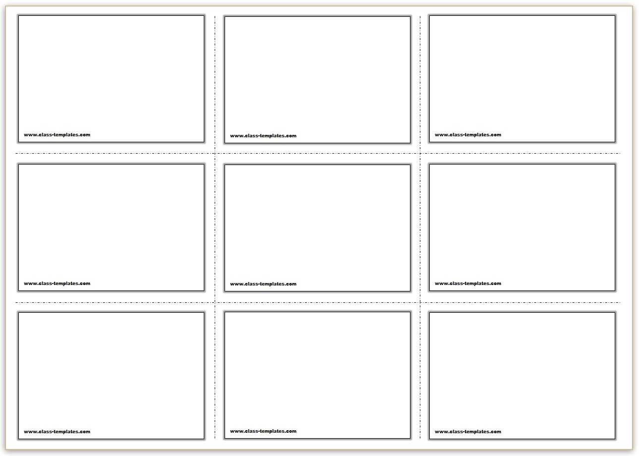 Free Printable Flash Cards Template For Cue Card Template