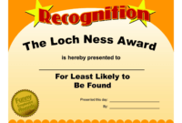 Free Printable Funny Awards – Zohre.horizonconsulting.co in Free Funny Award Certificate Templates For Word