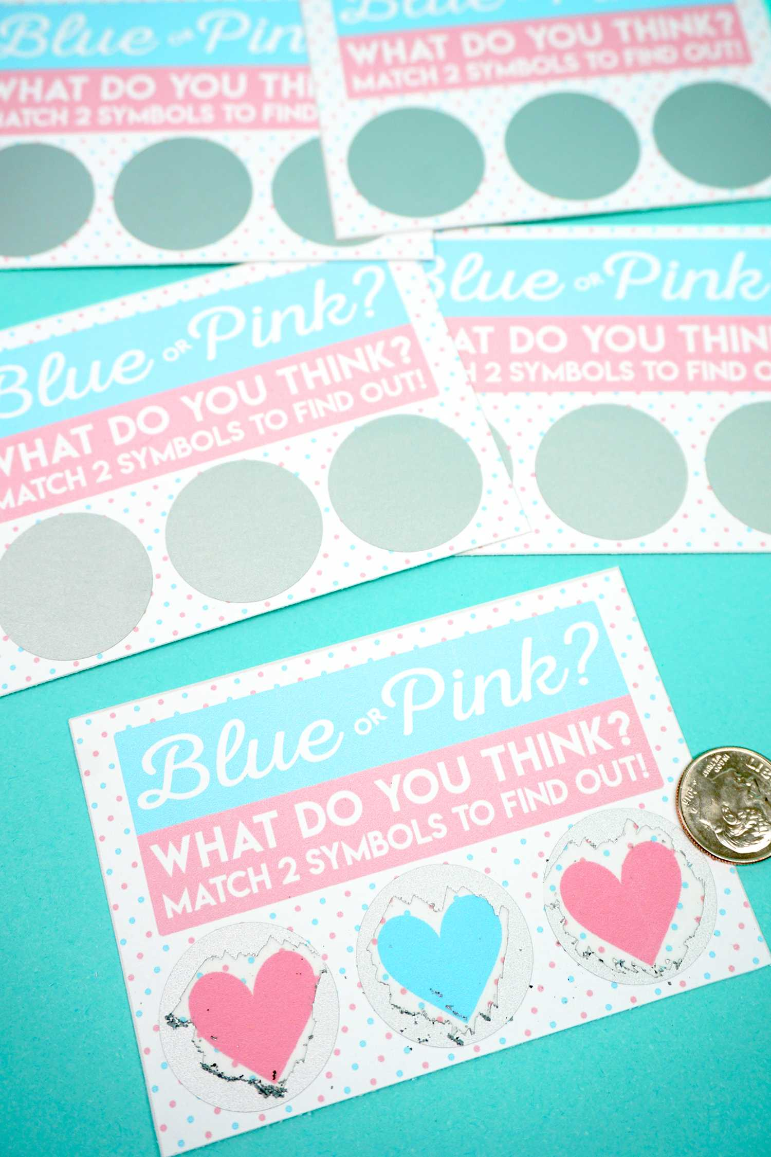 Free Printable Gender Reveal Scratch Off Cards - Happiness Within Scratch Off Card Templates
