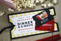 Free Printable} Give Date Night For A Wedding Gift | Gcg in Movie Gift Certificate Template