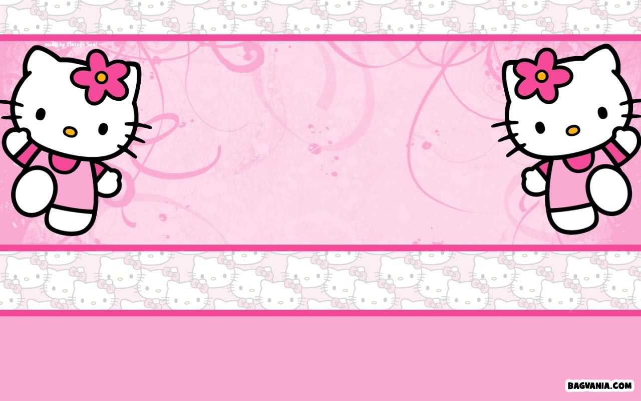 Free Printable Hello Kitty Background Invitation Template Intended For Hello Kitty Birthday Card Template Free