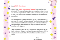 Free Printable Tooth Fairy Letter Template ] – Tooth Fairy in Tooth Fairy Certificate Template Free
