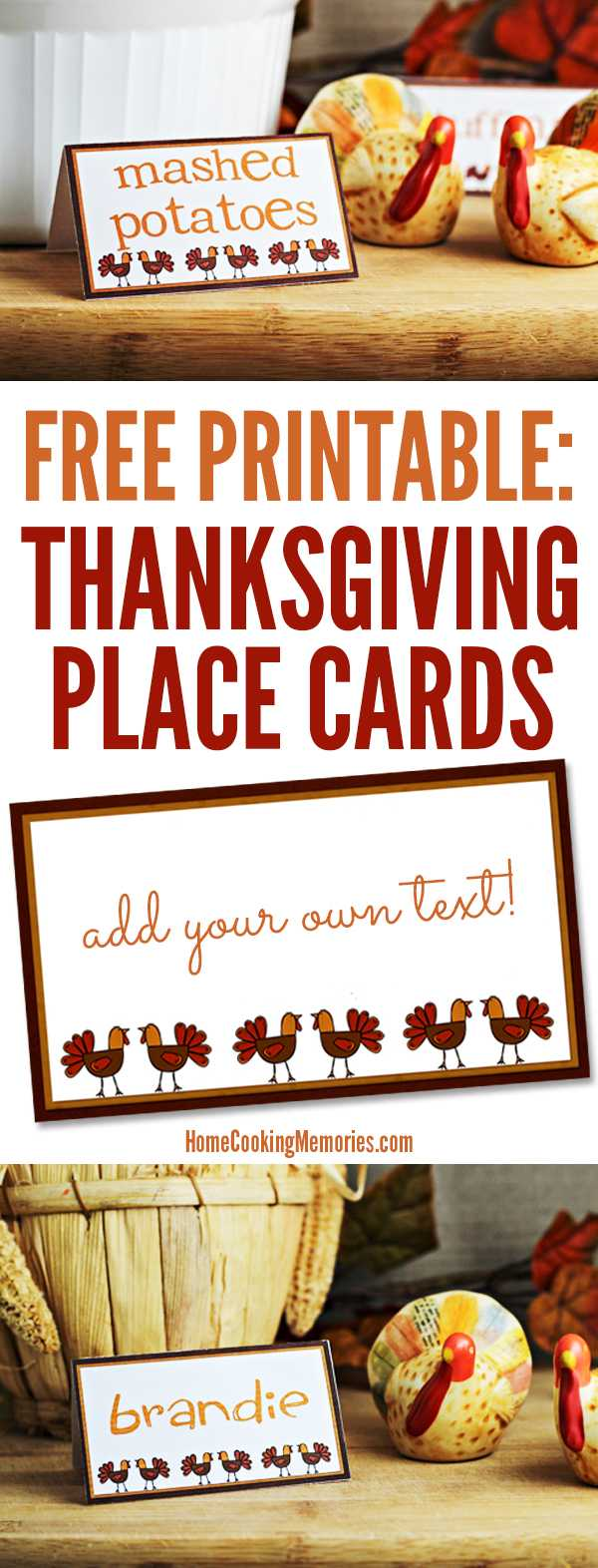 Free Printables: Thanksgiving Place Cards – Home Cooking Within Thanksgiving Place Card Templates