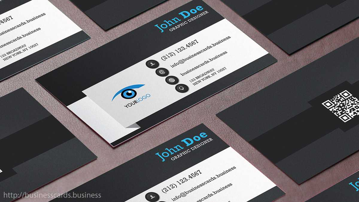 Free Qr Code Business Card Template : Business Cards Templates With Regard To Qr Code Business Card Template