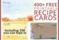 Free Recipe Cards – Cookbook People pertaining to Fillable Recipe Card Template