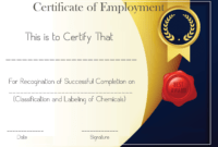Free Sample Certificate Of Employment Template | Certificate for Good Job Certificate Template