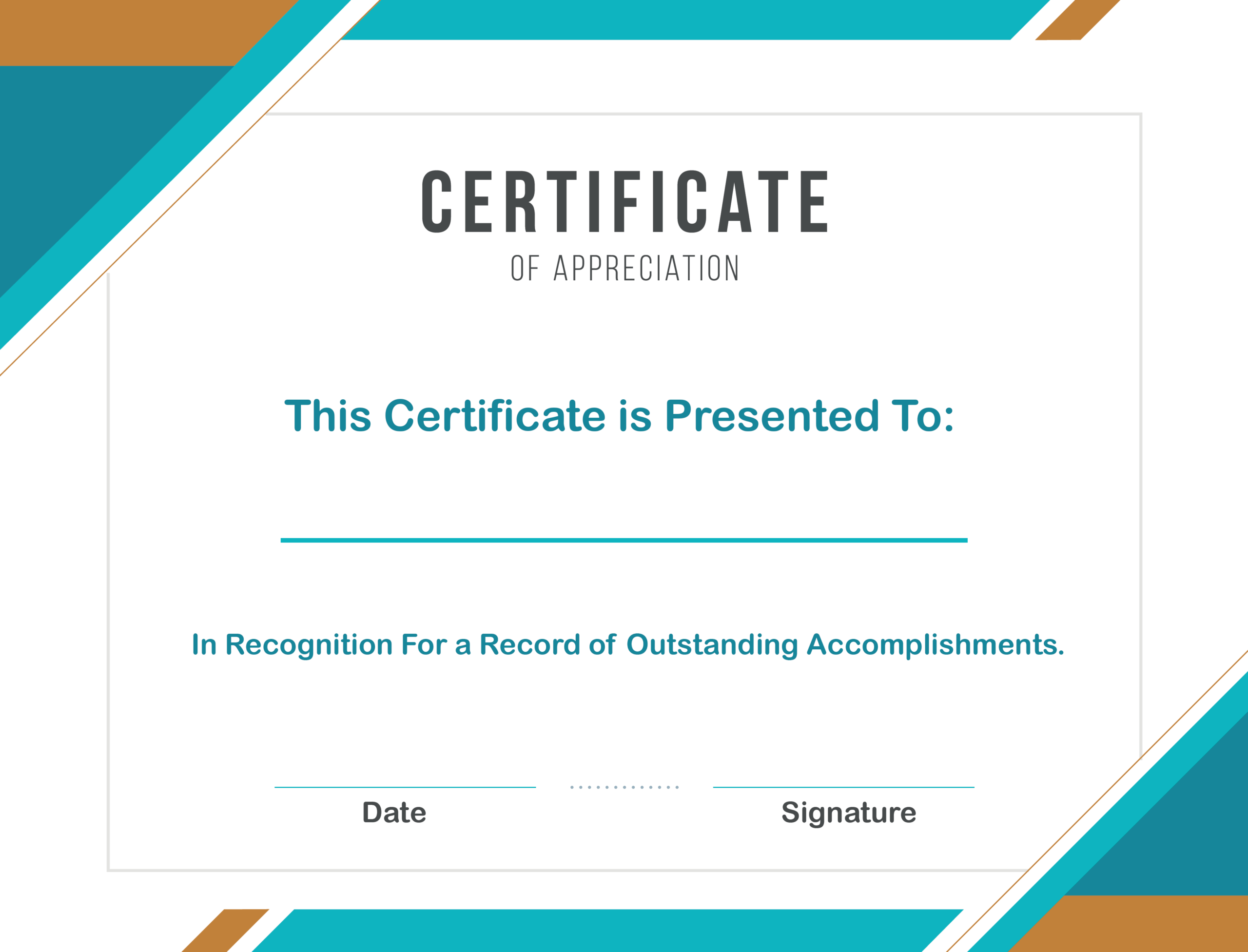 Free Sample Format Of Certificate Of Appreciation Template With Regard To Free Template For Certificate Of Recognition