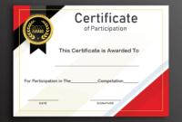 Free Sample Format Of Certificate Of Participation Template for Conference Participation Certificate Template