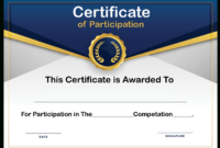 Free Sample Format Of Certificate Of Participation Template with Conference Participation Certificate Template