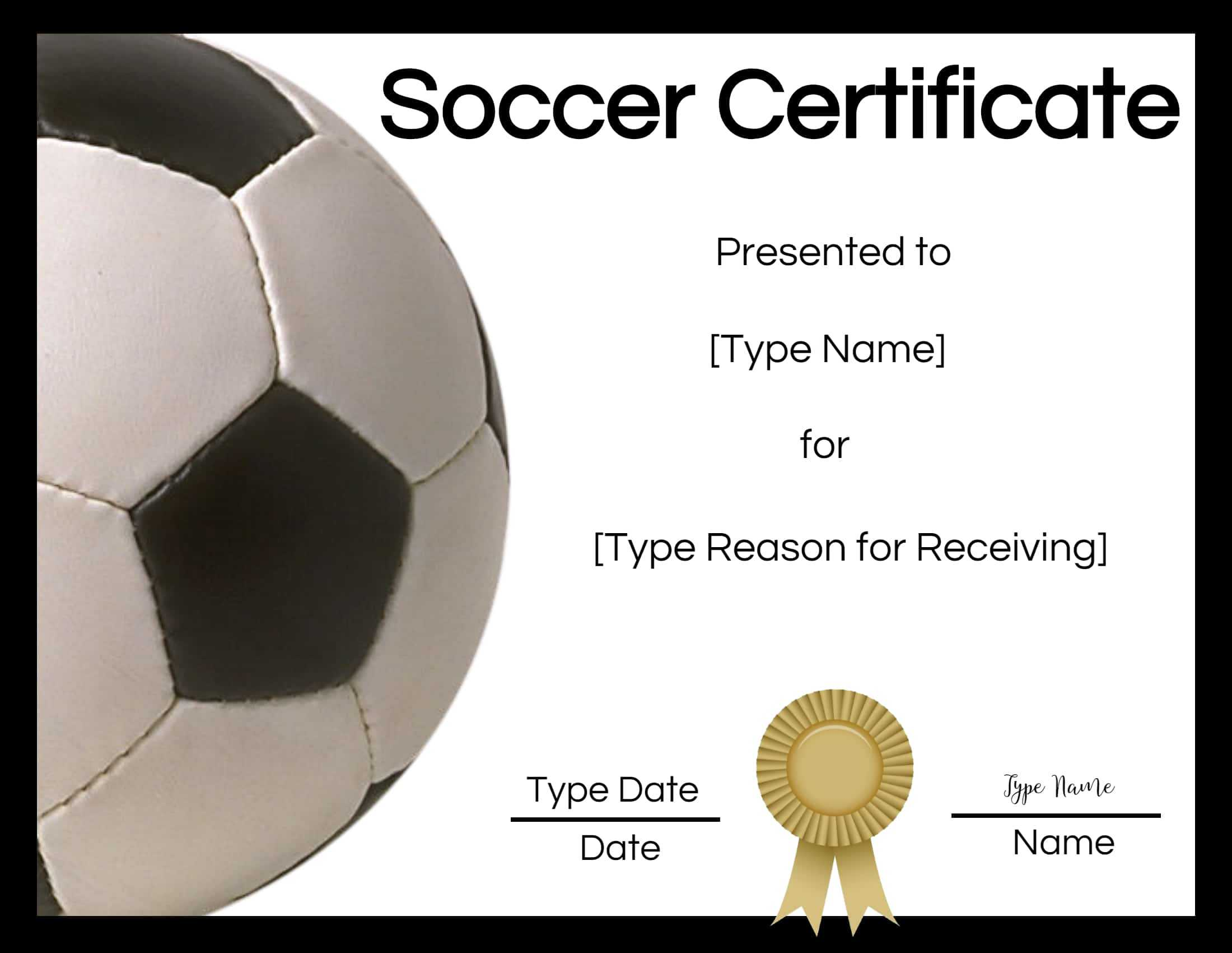 Free Soccer Certificate Maker | Edit Online And Print At Home Within Soccer Certificate Template