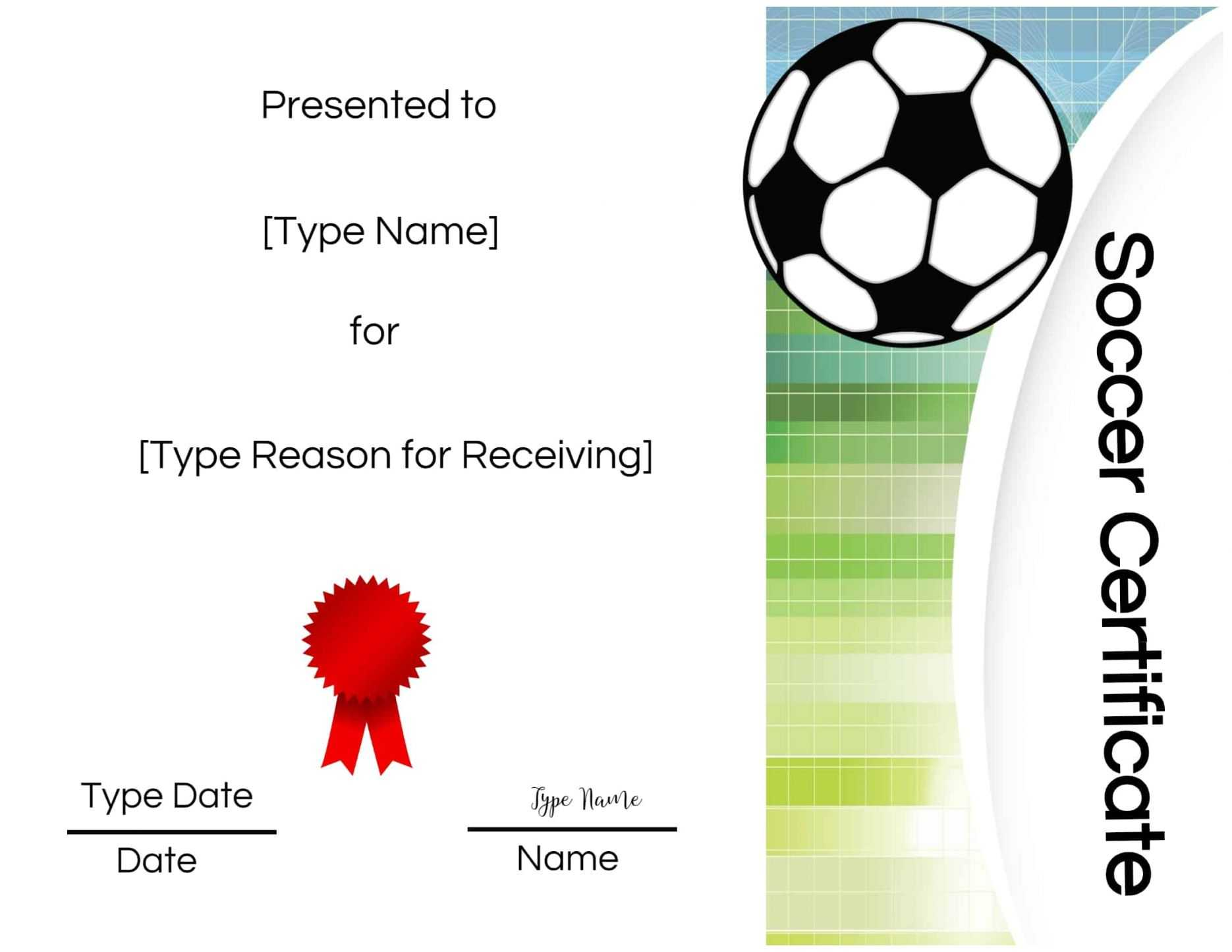 Free Soccer Certificate Maker | Edit Online And Print At Inside Soccer Award Certificate Template