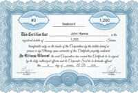 Free Stock Certificate Online Generator with Blank Share Certificate Template Free