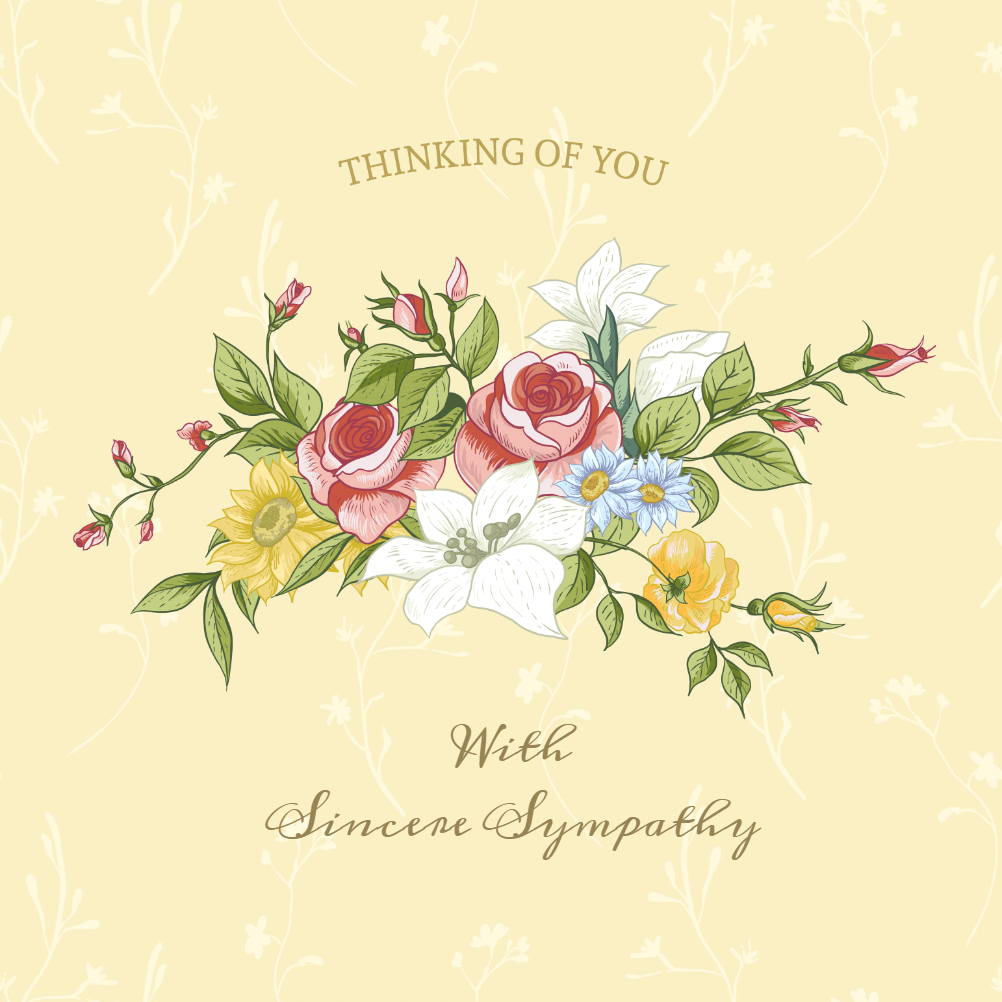 Free Sympathy Cards - Zohre.horizonconsulting.co Intended For Sympathy Card Template