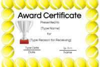 Free Tennis Certificates   Edit Online And Print At Home throughout Tennis Certificate Template Free