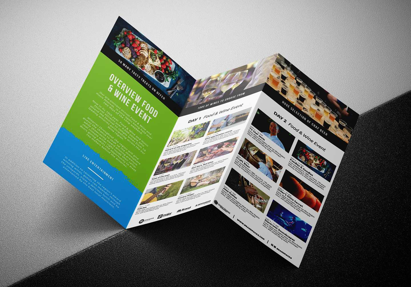 Free Tri Fold Brochure Template For Events & Festivals - Psd For Tri Fold Brochure Template Illustrator