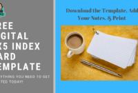 Freebie: Customizable And Printable 3X5 Index Card Template for 3 By 5 Index Card Template