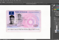 French Driver License (Permis De Conduire) Psd Template intended for French Id Card Template