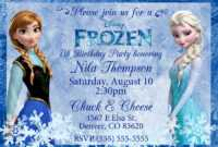 Frozen Birthday Invitations : Frozen Birthday Invitations intended for Frozen Birthday Card Template