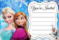 Frozen Birthday Invites Template – Zohre.horizonconsulting.co within Frozen Birthday Card Template