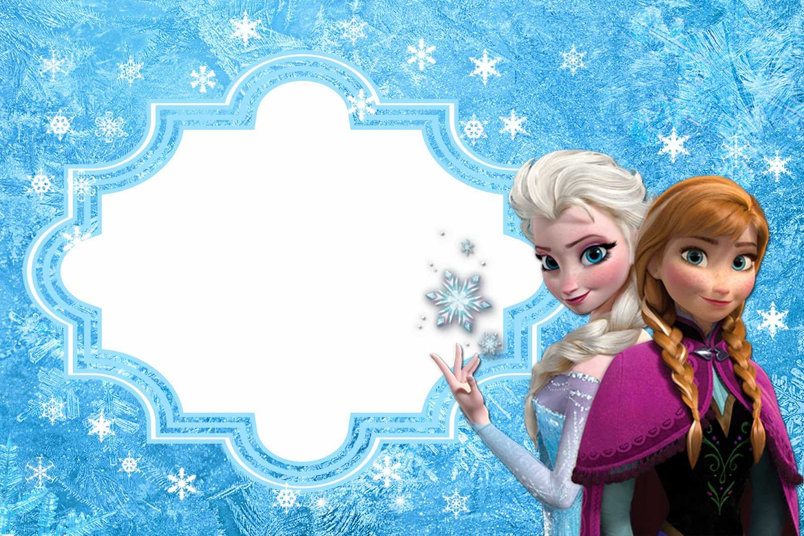 Frozen: Free Printable Cards Or Party Invitations. - Oh My Throughout Frozen Birthday Card Template