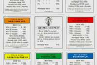 Full Set Of Monopoly Cards ○ Deeds, Chance & And 50 Similar regarding Monopoly Property Card Template