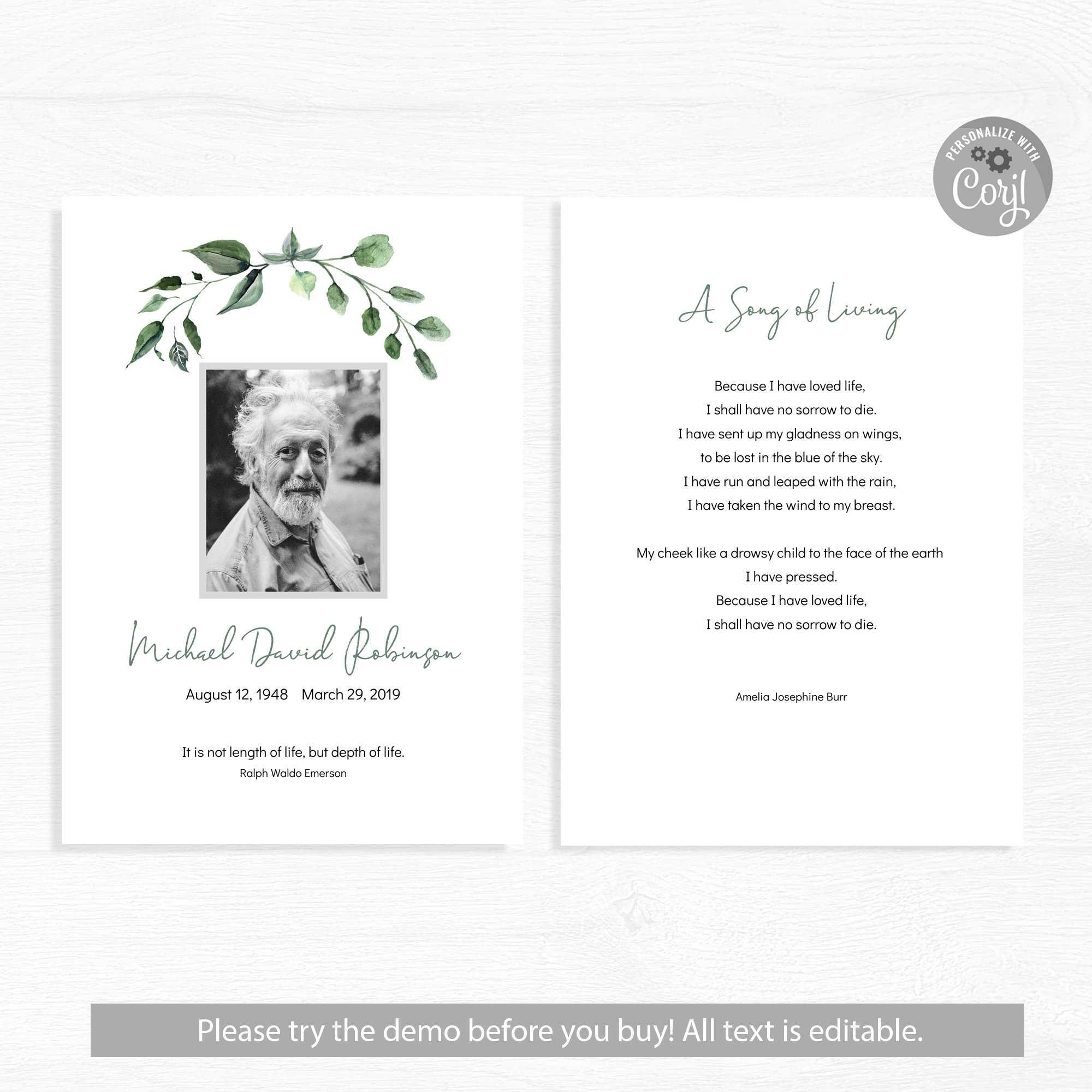 Funeral Card Template Word Program Psd Doc Publisher With Memorial Card Template Word