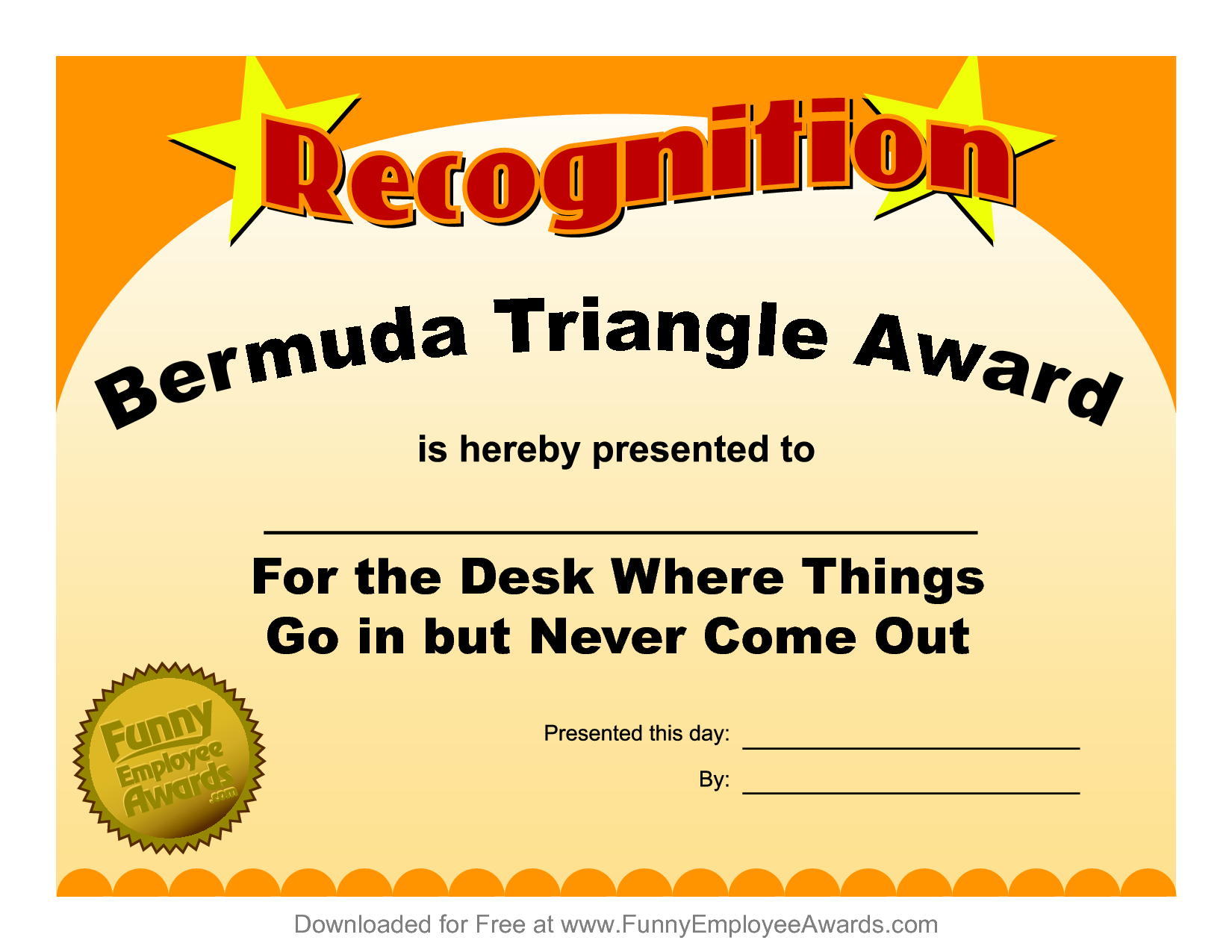 Funny Certificate Template ] - Funny Award Certificate For Free Printable Funny Certificate Templates