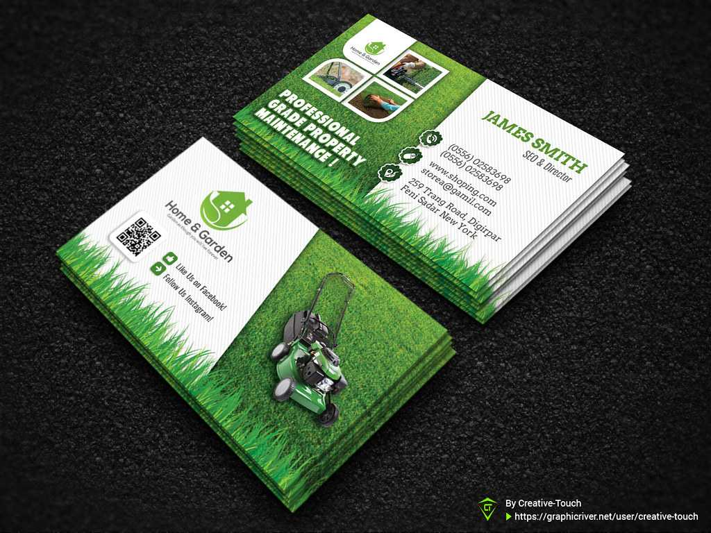 Garden Landscape Business Card Template | Download Here - Gr Throughout Landscaping Business Card Template