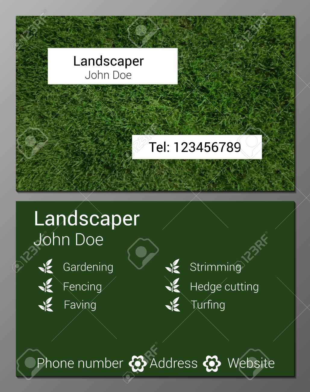 Gardening Business Cards Templates - Zohre.horizonconsulting.co In Gardening Business Cards Templates