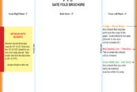 Gate Fold Brochure Template – 6 Free Templates In Pdf, Word with regard to 4 Fold Brochure Template Word