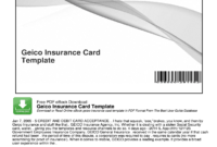 Geico Insurance Card Template Pdf – Fill Online, Printable pertaining to Proof Of Insurance Card Template
