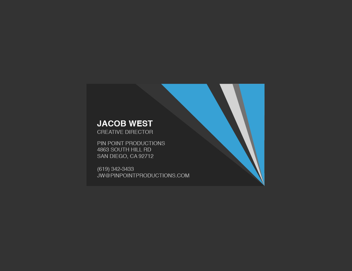 Generic Business Card Template ] - Elegant Classy Blue Intended For Generic Business Card Template