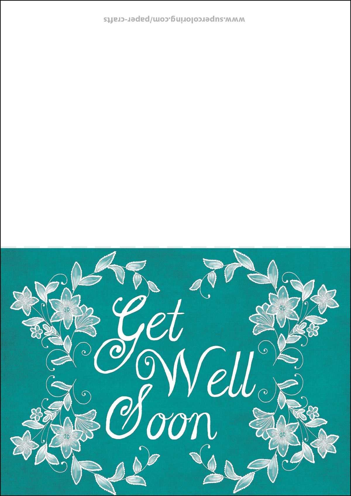 Get Well Soon Card Template | Free Printable Papercraft Within Get Well Card Template
