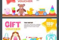 Gift Card, Voucher, Certificate Or Coupon Vector Design in Kids Gift Certificate Template