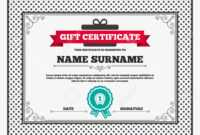 Gift Certificate. First Place Award Sign Icon. Prize For Winner.. in First Place Certificate Template